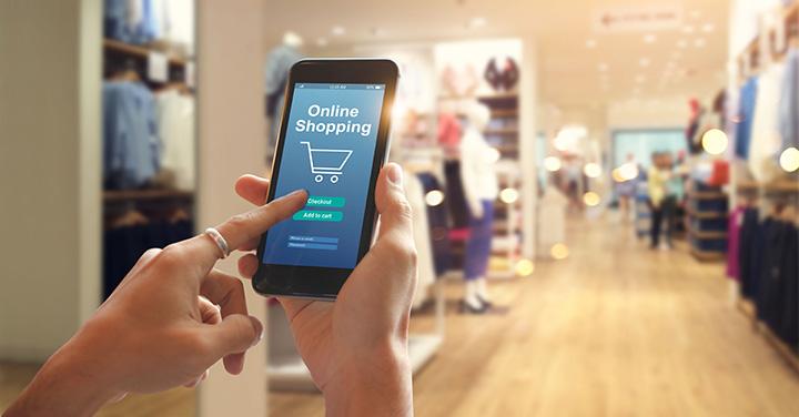 Teléfono móvil con app para compras