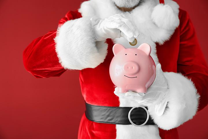 Santa Claus ahorrando - Navidad
